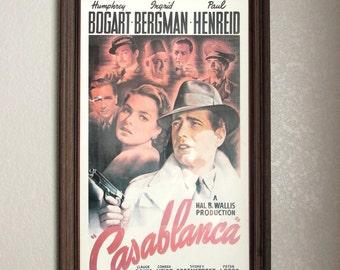 Casablanca, Framed Movie Poster, Movie Posters, Movie Poster Vintage, Casablanca Poster, Humphrey Bogart, Ingrid Bergman, Vintage Movie