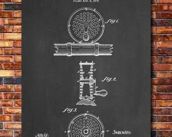 Orvis Fly Reel Patent Print Art 1874