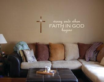 Faith in God Wall Decal