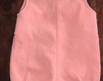 Vintage Romper~Coral Color~0-3 mo~Button tabs~Soft textured Fabric~So cute!