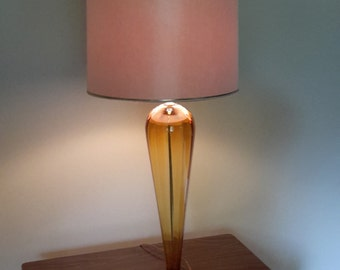 Mid Century Hand Blown Glass Table Lamp