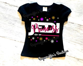 Jedi Princess, Jedi Princess shirt, jedi shirt, lightsaber shirt, girls sassy shirt, toddler jedi shirt, girls jedi shirt, princess shirt