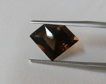 Diamond shape smoky quartz piece,tcw-5ct