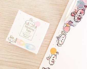 Cute washi tape - happy bunnies | Cute Stationery