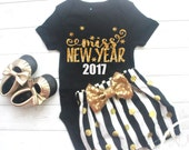 Baby Girl New Years Eve Outfit, New Years Baby Girl Outfift, Girls New Years Eve Outfit, Happy New Years, 2017, Baby Girl Clothes