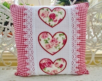 Pillow case of heart of country-style