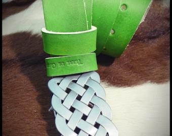 Custom Leather Belt celtic - vegetable tanned