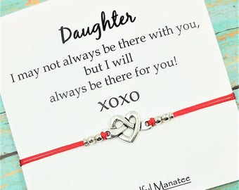 "Heart Charm Bracelet |"" I Will Always Be There For You"" Card 