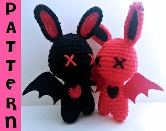 Crochet Pattern - Zombie Amigurumi - Love Bats Plush Dolls - Digital Download PDF