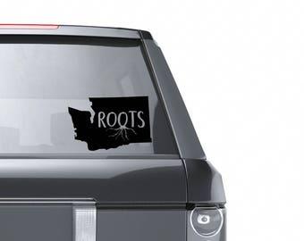 Washington Vinyl Window Decal - Washington Roots Sticker -  State Laptop Sticker