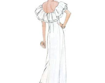 Vintage 80s Vogue Paris Original 1374 Givenchy Gown Sewing Pattern Size 8 Uncut FF