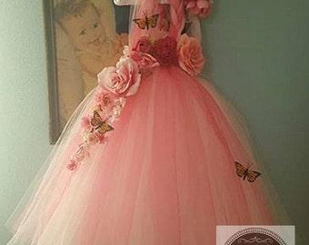 Pink fairy, Rose fairy, Fairy Dress, Fairy costume, Pink tutu dress, Pink party dress, Fairy photo shoot