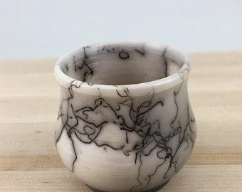 Miniature Horse Hair Vase, Pottery, Mommy Pot