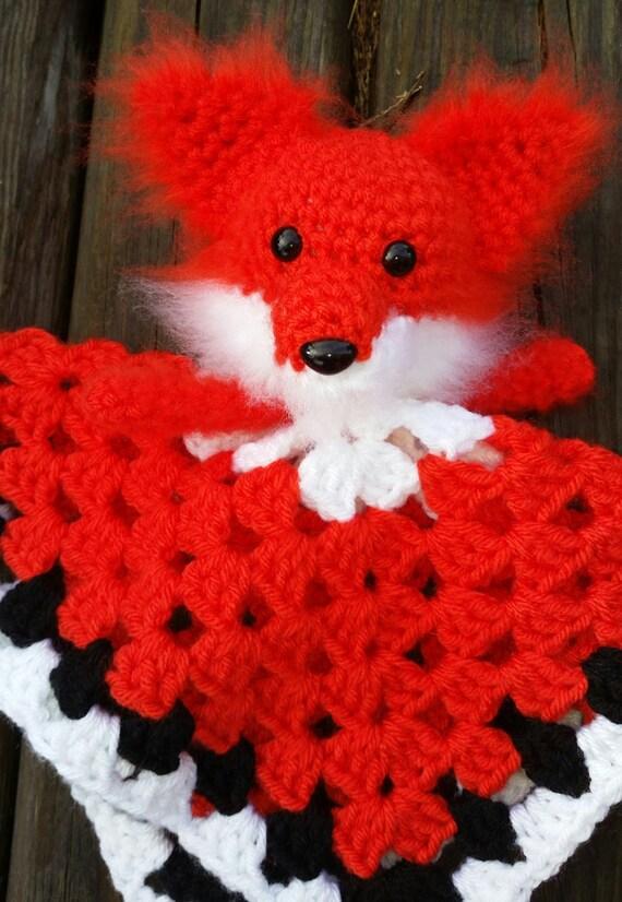 Fox lovey crochet/ blanket / amigurumi / toy / crochet/ dog/