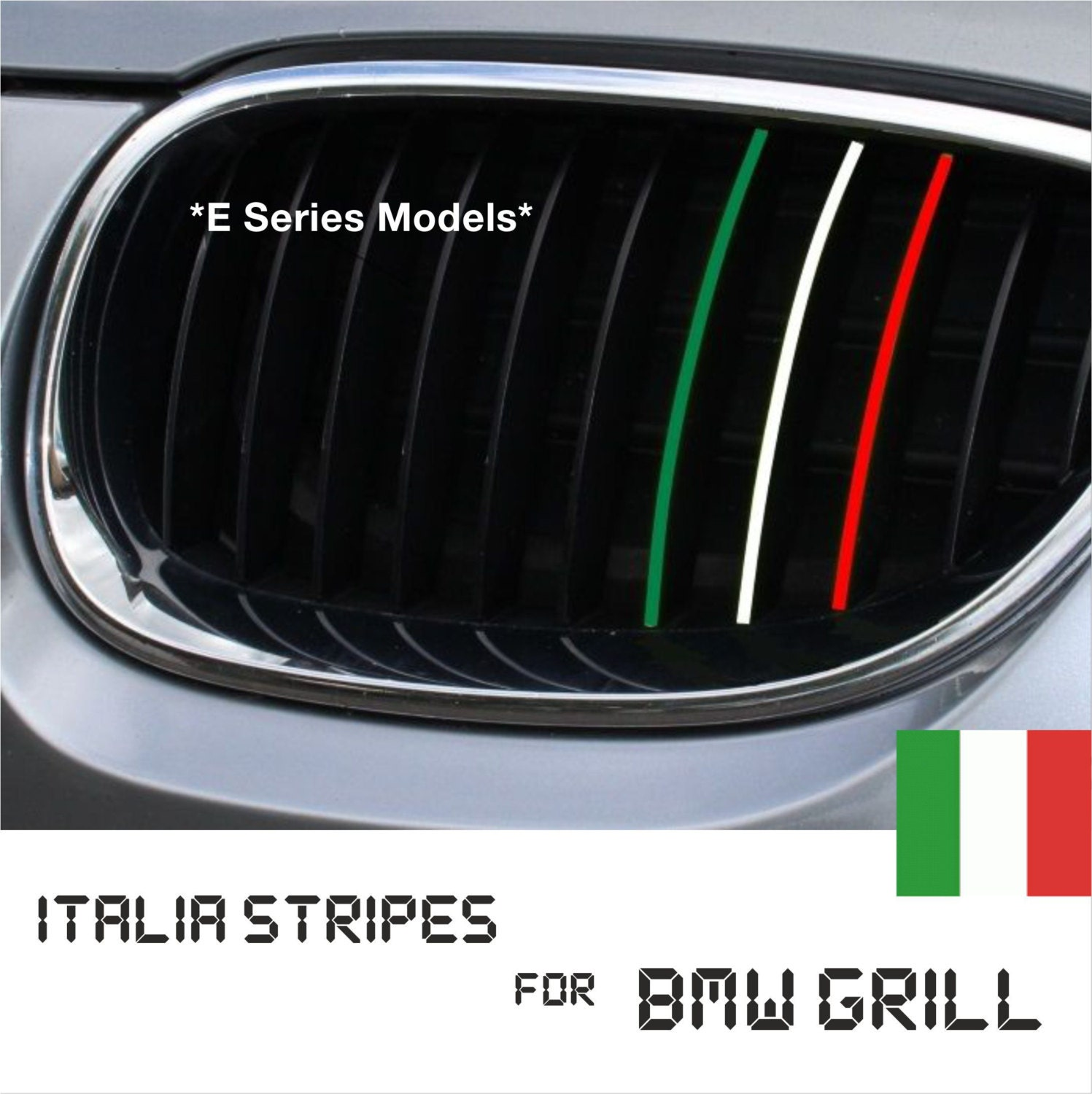BMW Kidney Grill Italy Italian Stripes M Sport Sticker Decal - Bmw grille stripe decals