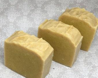 Turmeric Soap, Fragrance Free Soap, Natural Soap, Handmade Soap, soap for oily skin,  Vegan Soap, Unscented Soap, Soap Bar