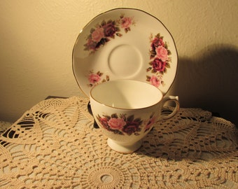 Sale Queen Ann Tea Cup and Saucer Signed