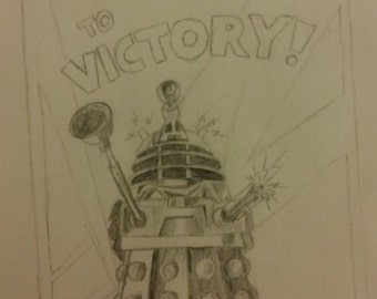 Dalek To Victory Poster