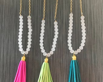 Model long necklace Tassel