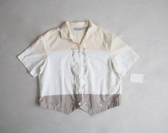 pastel blouse | cropped blouse | 90s blouse
