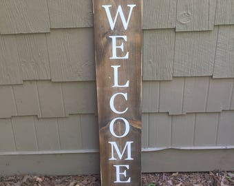 LARGE, Welcome sign, welcome, front porch sign, rustic welcome sign, distressed welcome sign, outdoor welcome sign