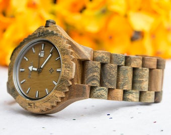 Elegant Personalized Mens Wooden Watch Vera Wood engraved with personal text, Gift for Him/Groom Gift,gift ideas for boyfriend/husband