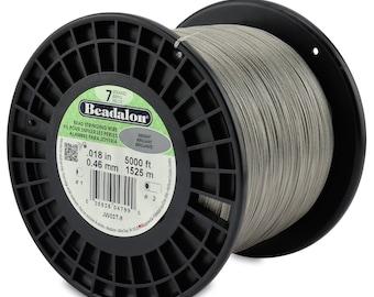 5,000ft - Beadalon 7 Strand .018 BRIGHT Stainless Steel Flex Beading Wire