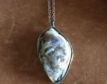 oleander - spiralite gemshell necklace