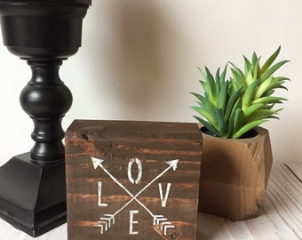 Wood Signs - Love Sign - Follow Your Arrow - Rustic Home Decor - Farmhouse Decor - Wood Sign - Rustic Signs - Love Decor - Boho Chic