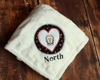Shih Tzu Dog Blanket Personalized Embroidered