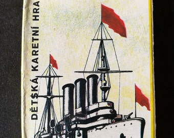Vintage Czechoslovakian Card Game - Kvarteto Historicke Lode - Quartet Historic Ships. Vintage Quartet Card Game