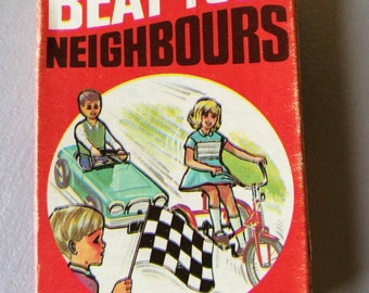Vintage Card Game - Beat Your Neighbours By Arrow Games No 6168. Vintage Beat Your Neighbours Card Game - Made In England By Arrow Games
