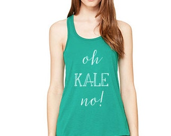Oh Kale No! Workout Racerback Tank // Yoga, Workout, Pilates, Barre // Graphic Tee
