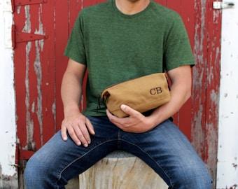 Groomsmen Gift - Set of 6 - Groomsmen Toiletry Bag - Shave Bag Set - Groomsmen Dopp Kit - Groomsmen Proposal - Men's Gift Idea - Travel Kit