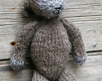 Lettuce the Lamb , knitted lamb, knitted toy, grey lamb, toy lamb, sheep toy,
