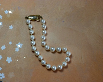 G-Silver Vintage Pearl Bracelet
