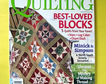 Clearance quilt magazine, 1 PAGE MISSING, American Patchwork & Quilting June 2010