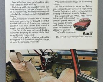 1970 Audi Print Ad - Car Seats
