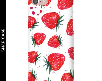 Strawberry Phone Case, Watercolor Strawberries Phone Case, iPhone 7 Strawberry Case, Samsung Phone Case, Samsung Case, Strawberry Case
