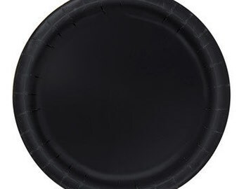 Black Dessert Paper Plates (7in.) 70ct