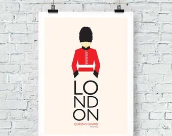 London Inspired: Queen's Guard Print Wall Art