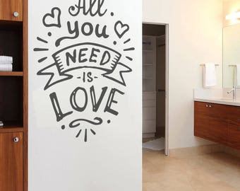 All You Need is Love New Wall Sticker Decal Art