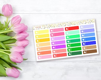 Books tracker planner sticker | Books stickers | Currently Reading stickers | Functional stickers | Rainbow stickers