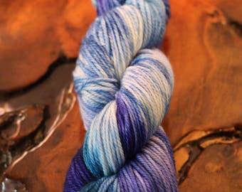"Hand Dyed ""Alpine Lakes"" Worsted, Super Wash Merino, Knitting, Crochet, Yarn"