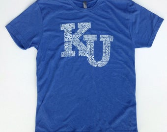KU Words Vintage Tee – Lawrence Kansas
