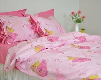 pink duvet cover set for girls twin twin xl full queen fairy princess print