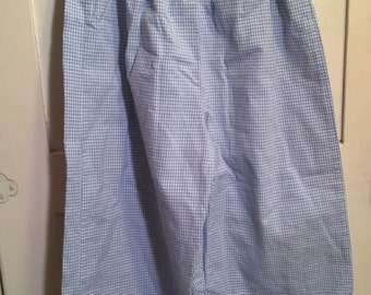 Size 5, Vintage Classic Baby Clothes, Light Blue and White Micro checked Pants