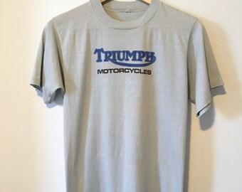Vintage 80's Triumph Motorcycle T-shirt
