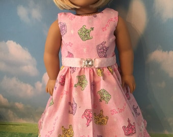 "SALE  Pink Princess Dress for 18"" Dolls like American Girl Dolls"