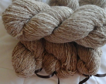 handspun alpaca yarn - Rusty